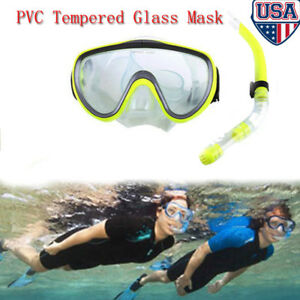 Adult-Scuba-Mask-Snorkel-Diving-Glasses-Set-Anti-Fog-Snorkeling-Swimming-Dive-US