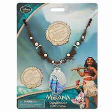 Disney Store Authentic Princess Moana SINGING Shell Necklace w/ Sounds FREE SHIP