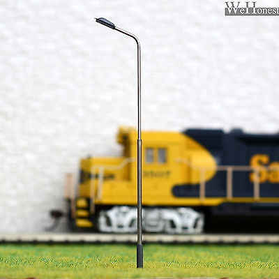 10 x OO / HO Scale Model Train Lamps Railroad Lamp post Led Street Lights QD100W
