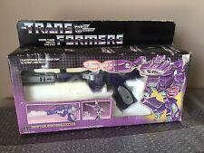 Vintage Hasbro 1984 Transformers g1 Shockwave Sound works Loose Complete