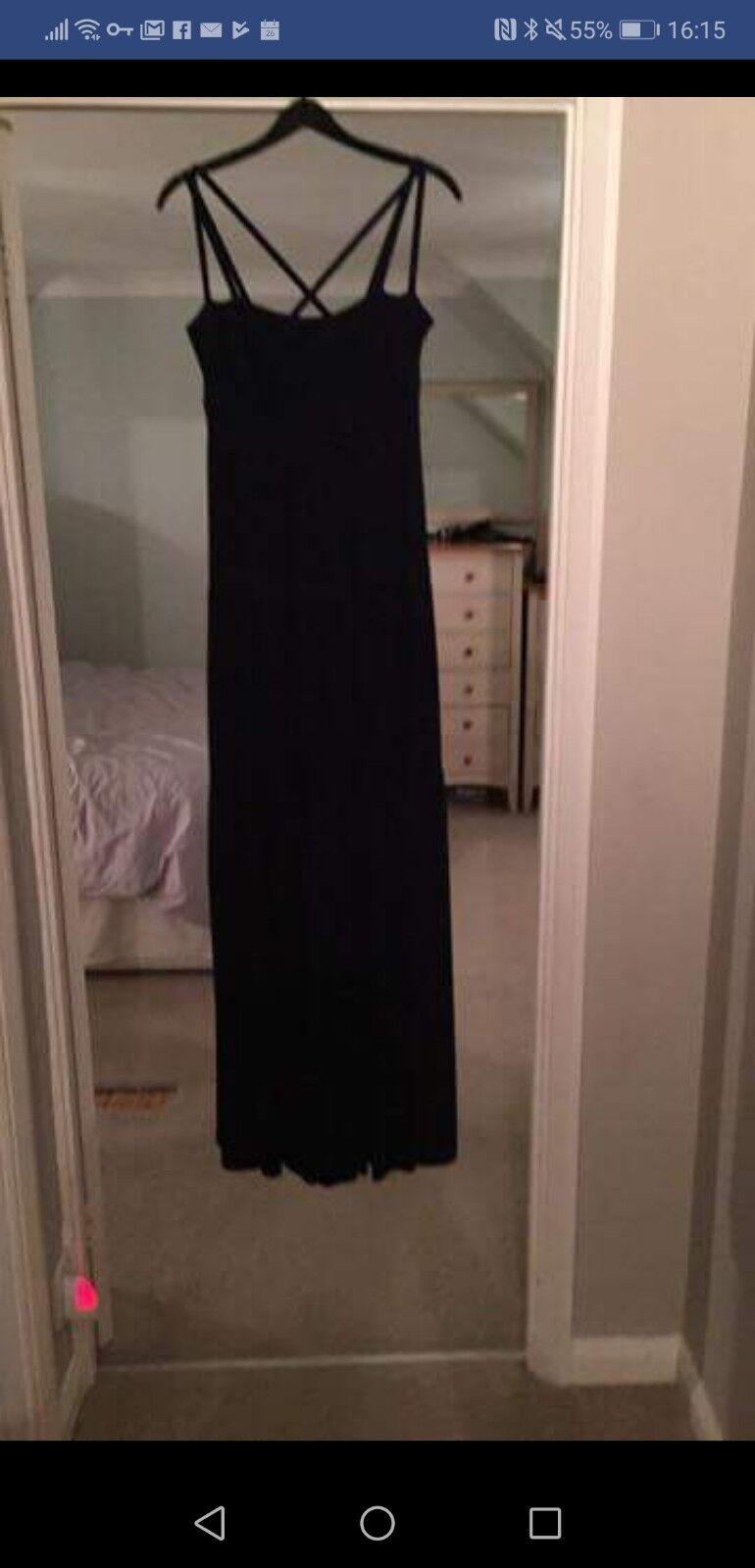 Karen Millen 10 Lined Navy Maxi Dress