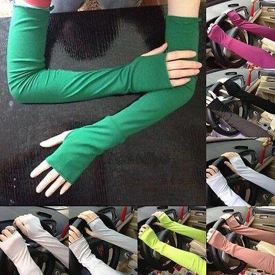 Women Warm Arm Warmer Cotton Long Fingerless Gloves Party Gift 18.9''(L)