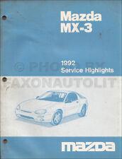 1992 Mazda MX3 Factory Service Hightlights Original Manual MX 3