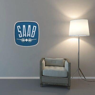 SAAB Aero Badge Wall Art Sticker Lounge Bedroom Garage Workshop Removable Vinyl