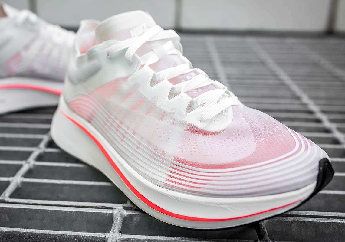 Nike NikeLab Zoom Fly SP BREAKING 2 blanc CRIMSON rouge TOKYO AJ9282-106 sz 11.5