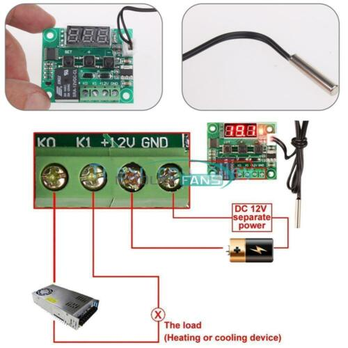 DC 12V W1209 Thermostat Temperaturregelung Schalter Regler Thermometer /& Case