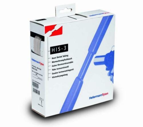 HellermannTyton Schrumpfschlauch HIS-3//1-PEX-CL Meterware transparent Kleber