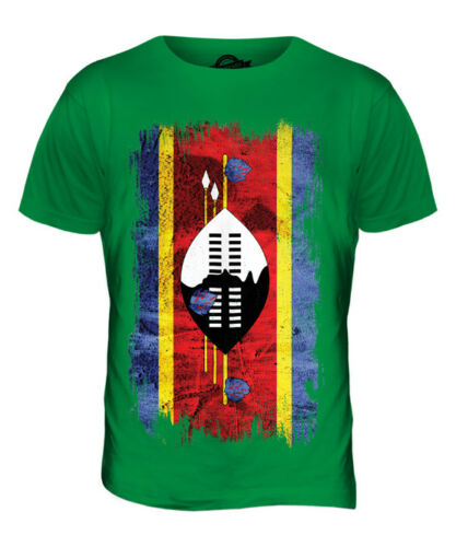 SWAZILAND GRUNGE FLAG MENS T-SHIRT TEE TOP SWAZI SHIRT FOOTBALL JERSEY GIFT