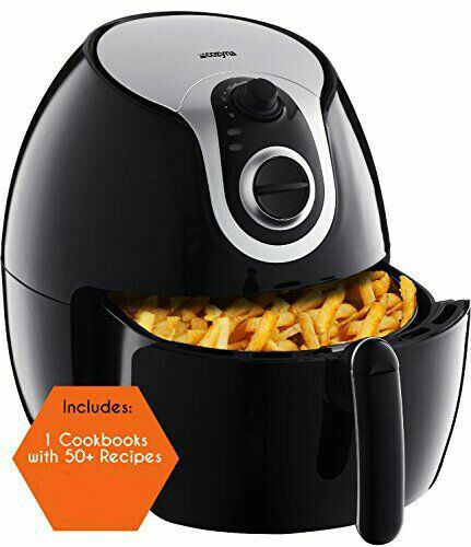 over 50 recipes with airfryer cookbook MANUAL N.. 5L Air Fryer XL by Cozyna
