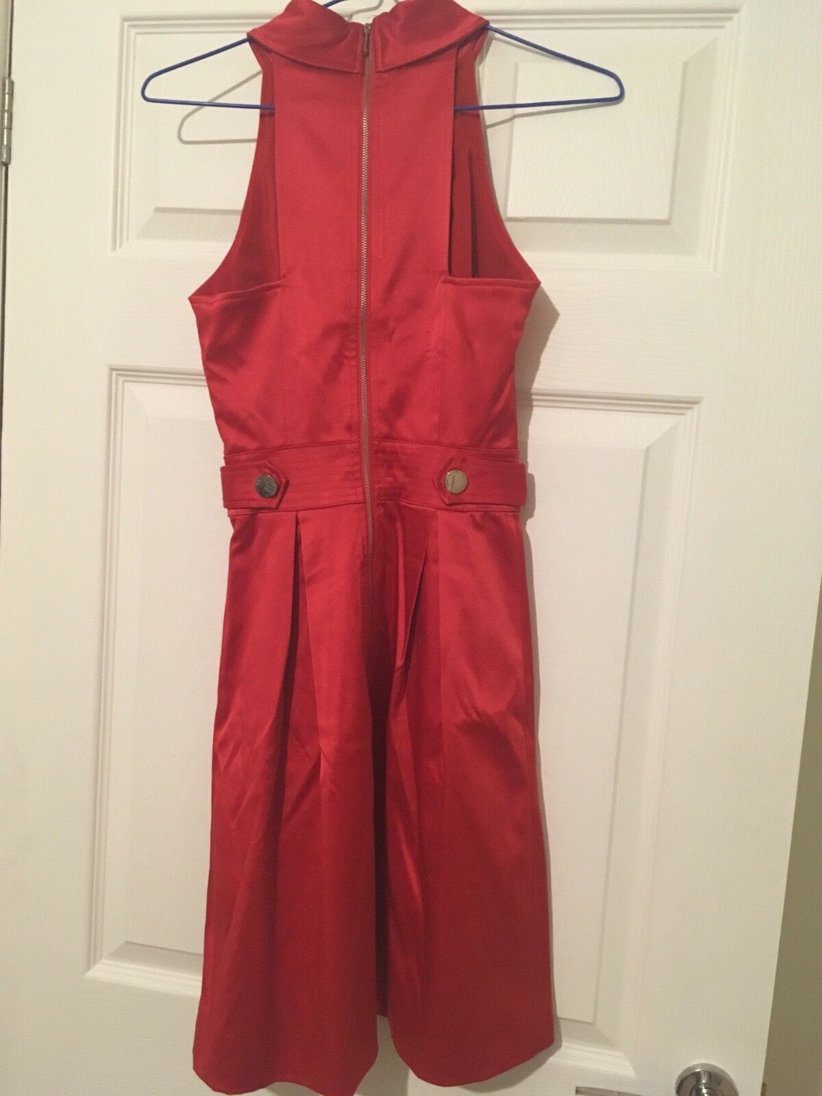 KAREN MILLEN rot satin dress Größe 1 1 1 (8) 87b498
