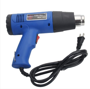 Heat Gun Dual-Temperature 1500W 110V with 4pcs Stainless Steel Concentrator Tips