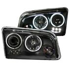 Headlight Assembly-Projector with Halo Clear Lens Black Left,Right Anzo 121381