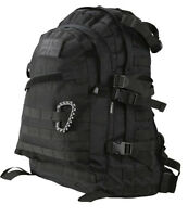 Army Combat Military Special Ops Molle Rucksack Backpack Day Pack Bag 45l Black
