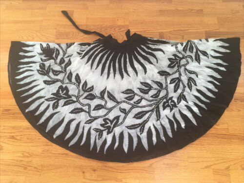Vintage Mexican Circle Skirt Hand Painted With Seq