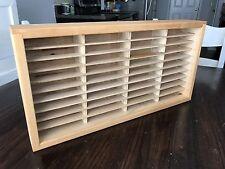 Vintage Wooden 30 Slot Cassette Tape Case Rack Wall Mount Storage Organizer
