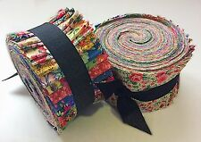 2.5 inch Vintage Bouquet Shabby chic light jelly roll cotton fabric quilt strips