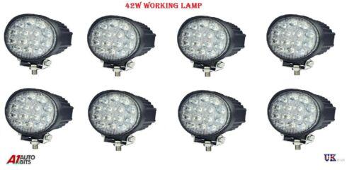8x 42 W 10-30 V 14 DEL Work Flood Beam fluocompactes Lights New Holland Massey Ferguson