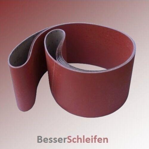 10 Schleifbänder Schleifband 100x910 mm Körnung P80 auf Gewebebasis