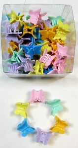 WHOLESALE LOT OF 48,96,288,576-<wbr/>--1 &#034; PASTEL TONE  BUTTERFLY HAIR CLAWS CLIP-BC48