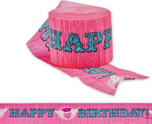 Rocker Girl Birthday Crepe Streamer 1pc Rock Star Party Decoration Supplies