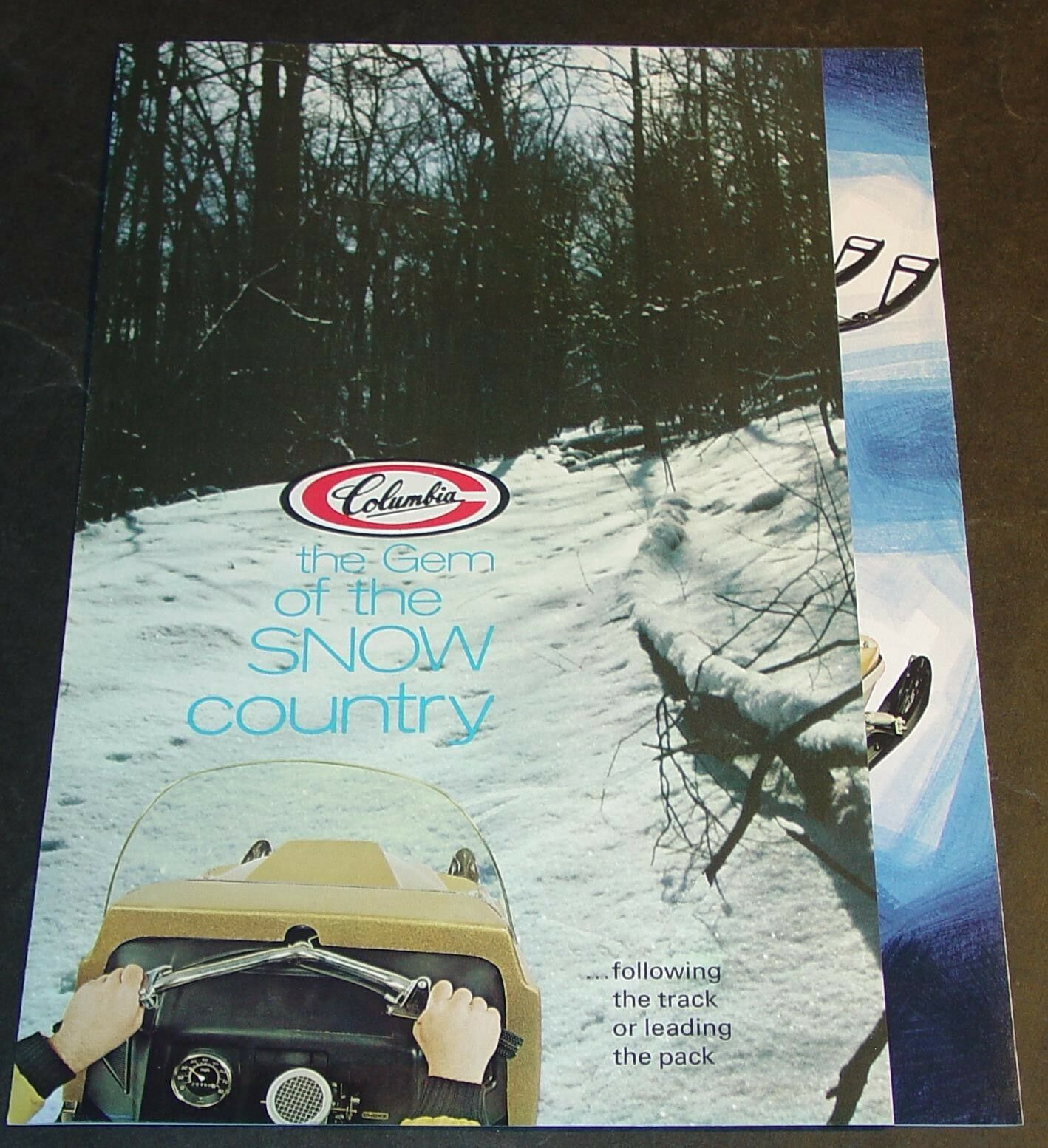 VINTAGE COLUMBIA SNOWMOBILE SALES BROCHURE VERY  NICE++  (761)  factory outlet online discount sale