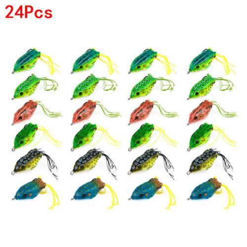 2.36/'/' Frog Bass Bait Soft Angelköder Topwater Crankbait Schwimmender Angelhaken