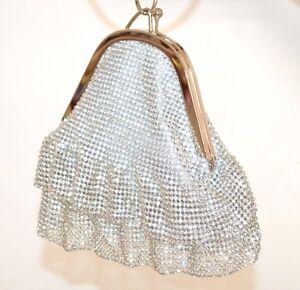 a63408bd96 Caricamento dell'immagine in corso POCHETTE-ARGENTO-strass-donna-cristalli- borsello-clutch-bag-