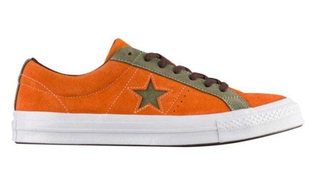 9fa651748dd Converse Men s ONE STAR OX Shoes Bold Mandarin Field Surplus 161617C c