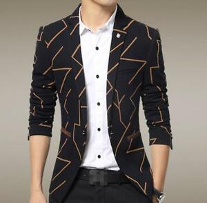 New Fashion Men Multi Color Blazer Printed Coat Suit ...