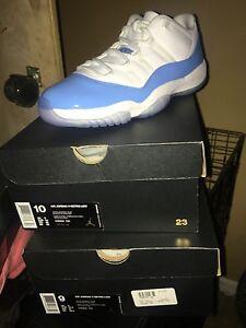 Air Jordan 11 Retro Low White University Blue UNC Carolina Mens Size ... b8439452b