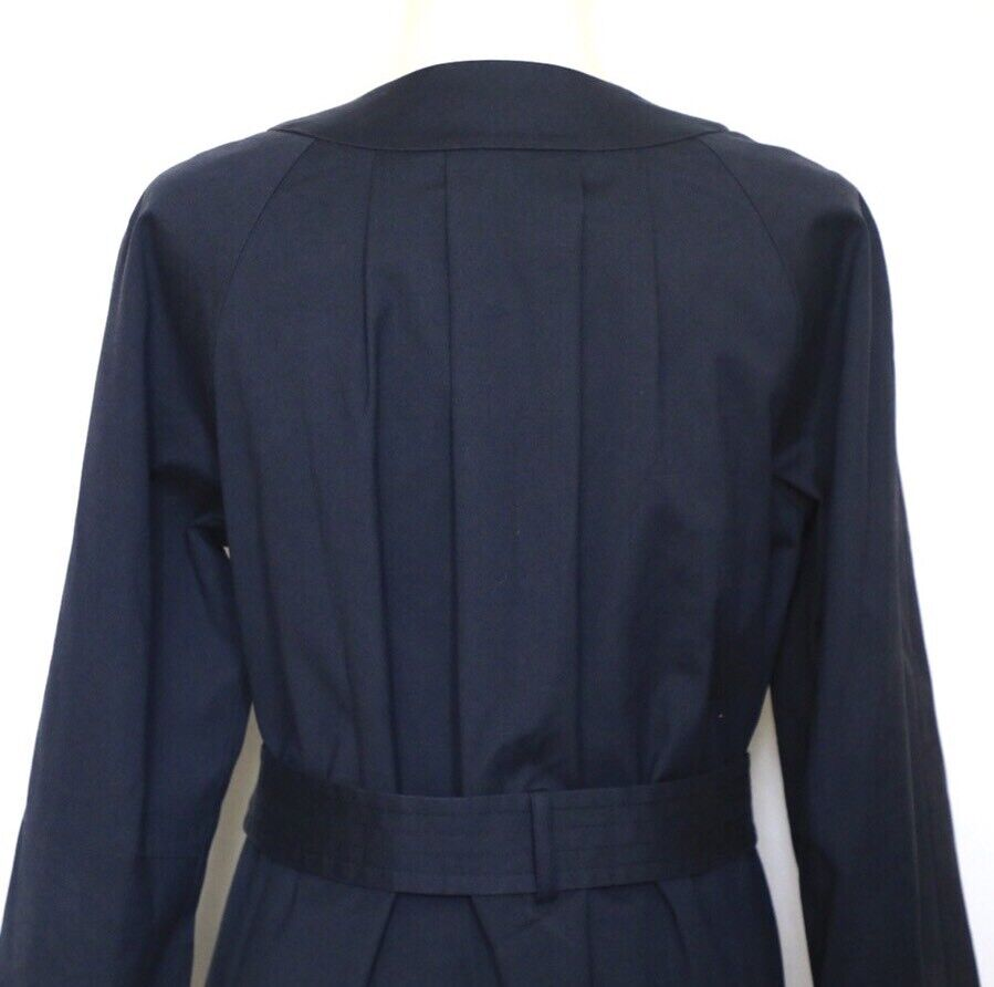 THEORY Women's Navy Blue Idola Connect Trench Coa… - image 5