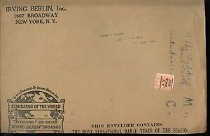 Irving-Berlin-6-cent-PRECANCEL-advertising-Music-PUB-Printed-Matter-cover