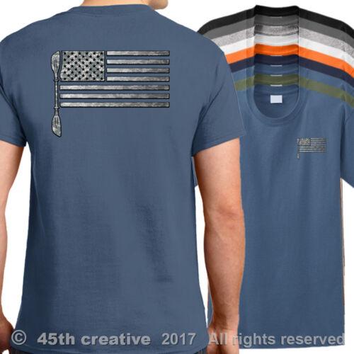 USA Kayaking Flag T-Shirt american kayak shirt ocean lake river kayak shirt