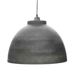 Lampara-Colgante-Pendulo-Metal-Concreto-Piedra-Blanco-Pintado-De-Techo
