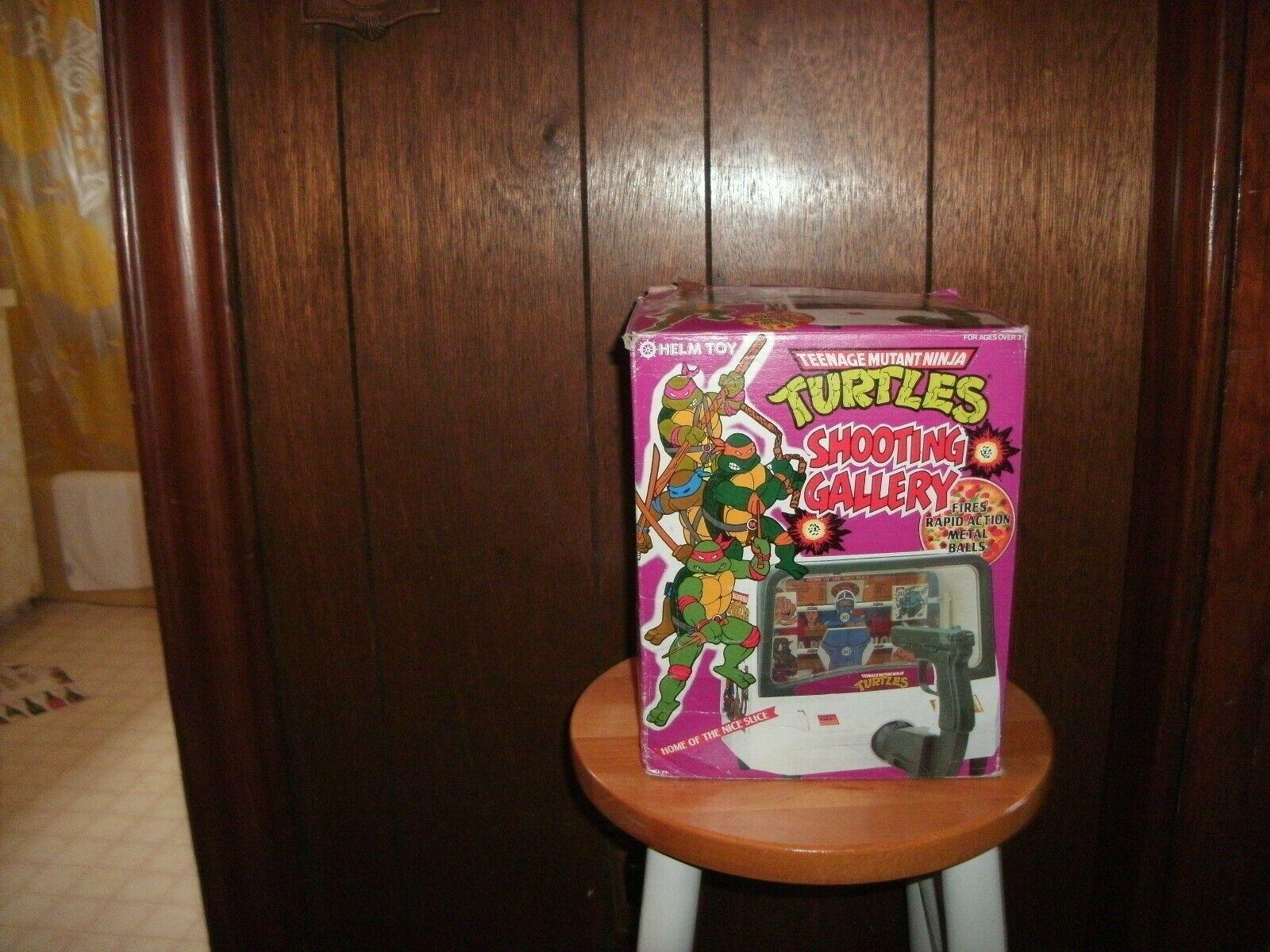 1988 Teenage Mutant Ninja Turtle SHOOTING GALLERY HELM TOY brand new in Box