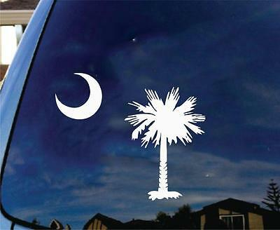 Outdoors... South Carolina JDM Decal for Car Windows Palm Tree and Moon Decal