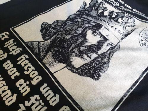 Roi Henri T-shirt noir Allemagne fidélité patrie Patrie