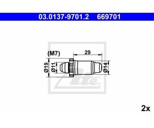 ATE Rep-Set freno a mano 03.0137-9701 ATE 03.0137-9701.2