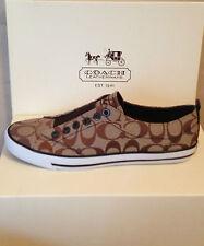 COACH KHAKI/CHESTNUT Fashion Sneakers SIZE 8,5