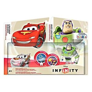 NEW-Disney-Infinity-Race-to-Space-Crystal-Cars-Lightning-McQueen-Buzz-Lightyear