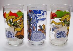 The Great Muppet Caper - Set of 3 McDonald's Muppets Glasses - 1981
