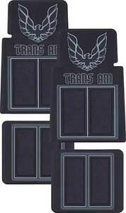 1970 1981 firebird trans am custom molded floor mats with for 1979 trans am floor mats