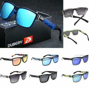3dc499b291 Image is loading DUBERY-Polarized-Sunglasses-Women-Men-Square-Cycling-Sport-
