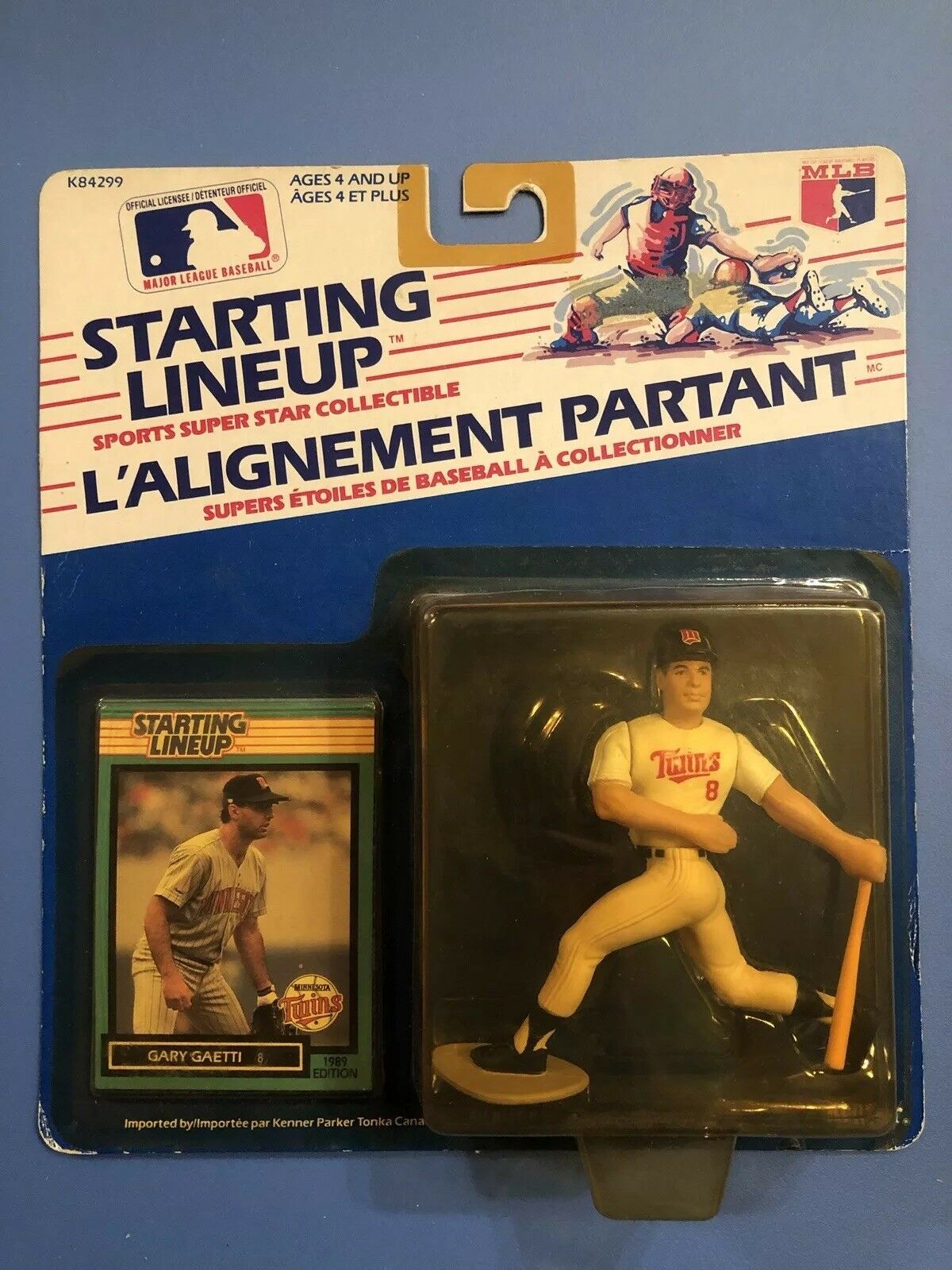 1989 Canadian GARY GAETTI Starting Lineup MINNESOTA TWINS 89 SLU Figure RARE