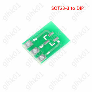 50 pcs New Double-Side SMD SOT23-3 to DIP SIP3 Adapter PCB Board DIY Converter