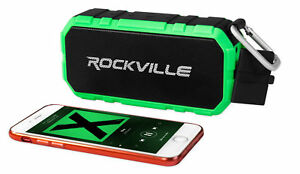 Rockville RPB24 Portable Bluetooth Speaker w/4000mAH Powerbank+30 Hour Battery