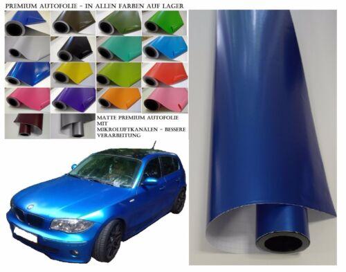 PREMIUM Auto Folie 200 x 152 cm Blau Metallic BLASENFREI mit Luftkanälen