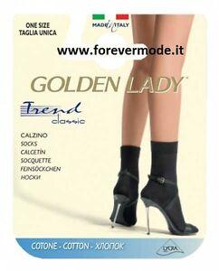 huge selection of 7a7ee 33b99 Dettagli su 6 paia Calze calzini donna Golden Lady Trend corte in  morbidissimo cotone art 5R