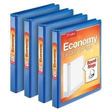 Cardinal Economy 3 Ring Binder 1 Inch Presentation View Blue Holds 225 Sh