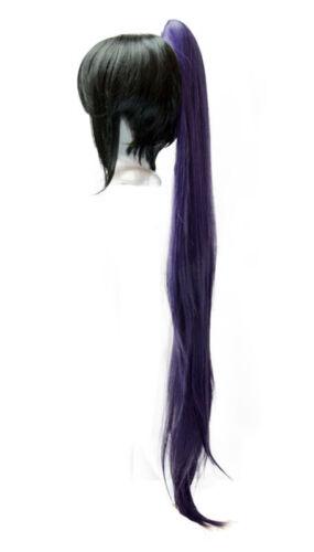 40/'/' Wavy Claw Clip Pony Tail Eggplant Purple Cosplay Wig NEW